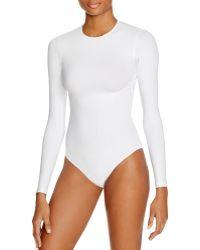 American Apparel - Classic Long Sleeve Bodysuit - Lyst