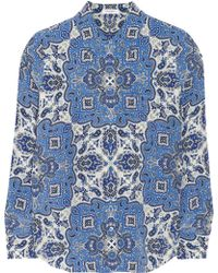 Equipment Brett Printed Washedsilk Shirt - Lyst