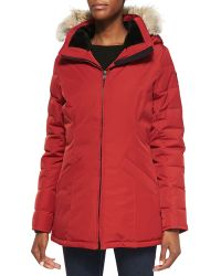 Canada Goose Belmont Fur-Hooded Down Coat - Lyst