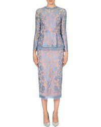 Emilia Wickstead Peplum-waist Lace Dress - Lyst