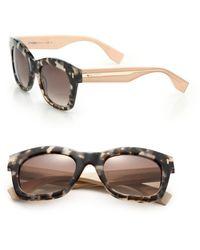 Fendi Colorblock Square Acetate Sunglasses - Lyst
