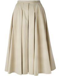 Michael Kors A-Line Pleated Skirt - Lyst