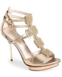 Pelle Moda Poppy Suede Platform Sandals - Lyst