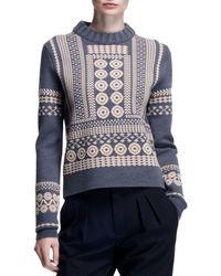 Chloé Stencil Jacquard Embroidered Sweater - Lyst