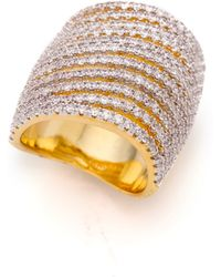 Noir Jewelry Crystal Encrusted Ring  Goldclear - Lyst
