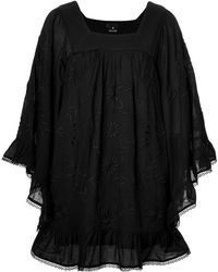 Anna Sui Embroidered Cotton Tunic - Lyst