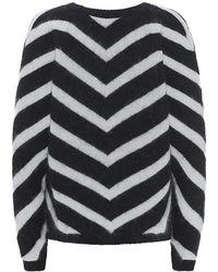 Balmain Chevron Angora-blend Sweater - Lyst