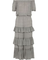 Isabel Marant Adella Ruffled Printed Silk-Georgette Dress - Lyst