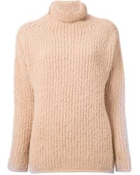 Forte Forte Rolled Neck Ribbed Sweater - Lyst