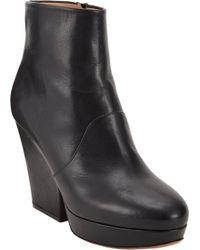 Maison Margiela Side-Zip Platform Ankle Boots - Lyst