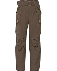 Marc Jacobs Wool-Twill Cargo Pants - Lyst