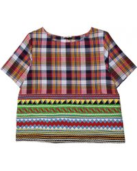Suno Madras Plaid Top - Lyst