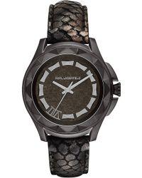 Karl Lagerfeld Karl 7 Watch with Pythonembossed Strap - Lyst