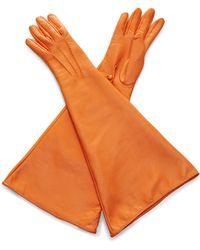 Rochas - Bright Orange Opera Gloves - Lyst