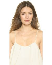Vanessa Mooney - The Love Letter Necklace - Gold - Lyst