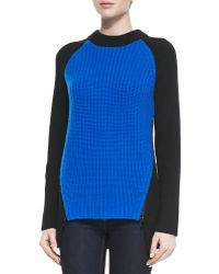 Michael Kors Cashmere Colorblock Shaker Sweater - Lyst