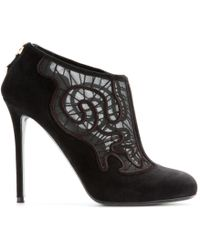 Nicholas Kirkwood Suede and Lace Ankle Boots - Lyst