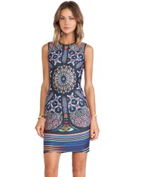Clover Canyon Stained Glass Neoprene Dress - Lyst