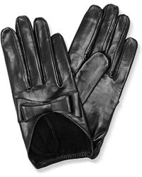 Imoni | Black Leather Gloves with Bow | Lyst