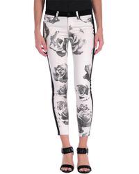 Hudson Leeloo Super Skinny Crop In Black / White Floral floral - Lyst