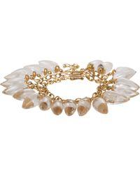 Judy Geib - Rock Crystal Diamond Gold Brilliant Nova Swinging Bracelet - Lyst