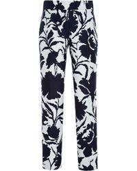 Oscar de la Renta Cotton And Silk-Blend Jacquard Pants - Lyst