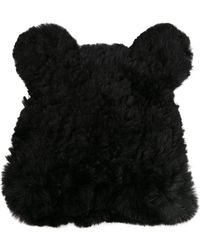 Jocelyn Fur Knit Hat With Ears - Lyst