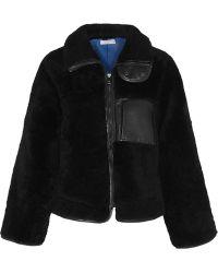Altuzarra Manray Leathertrimmed Shearling Jacket - Lyst
