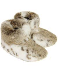 Helen Moore - Lynx Faux Fur Slipper Boots - Lyst