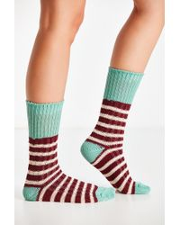 Urban Outfitters - Colorblock Stripe Crew Sock - Lyst