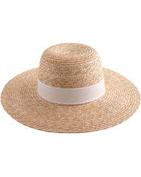 J.Crew Wide-Brimmed Straw Hat - Lyst