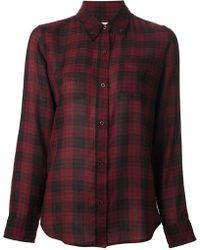 Etoile Isabel Marant Red Classic Shirt - Lyst