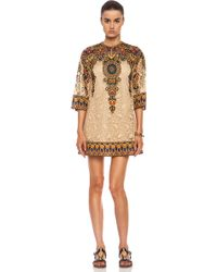 Valentino Cottonblend Shift Dress - Lyst