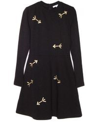 Carven Jersey Dress With Arrows black - Lyst