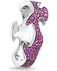 Georg Jensen - Fusion 18ct White-gold And Pink Sapphire Ring - Lyst