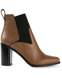 Chloé Brown Ankle Boots - Lyst