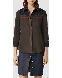 AllSaints Western Shirt - Lyst