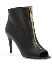Burberry 'Haverstock' Zip Open Toe Bootie - Lyst