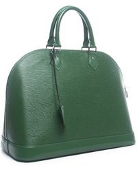 Louis Vuitton Pre-owned Menthe Green Epi Alma Mm Bag - Lyst
