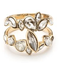 Alexis Bittar Gold Liquid Crystal Stacking Ring - Lyst