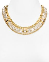 "T Tahari - Layered Chain Necklace, 17"" - Lyst"