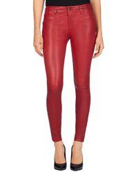 J Brand Leather Super Skinny - Lyst