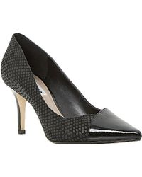 Dune Aleni Contrasting Pointed-Toe Mid-Heel Courts - For Women black - Lyst