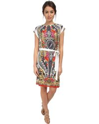 Versace S/S Graphic Print Shirtdress - Lyst