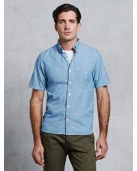 Rogue Territory Short Sleeve Shirt blue - Lyst