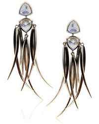 Katie Rowland Morrigan Feather Drop Earrings - Lyst