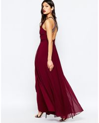 Warehouse - Embellished Cross Back Maxi Dress - Red - Lyst