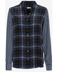 Equipment Exclusive Brett Plaid Pattern Blouse - Lyst