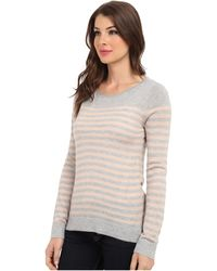 Vince Camuto Ls Stripe Crew Neck Sweater - Lyst