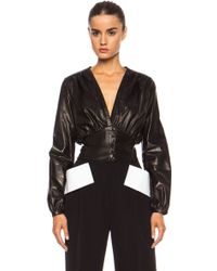 Givenchy Leather Top with Wrap Waist - Lyst